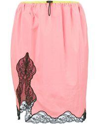 Alexander Wang Lace Trim Skirt - Pink