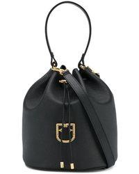 Furla Corona Bucket Bag - Black