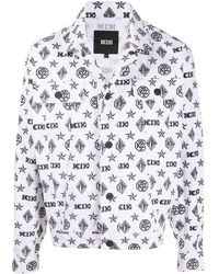 KTZ モノグラム デニムジャケット - ホワイト