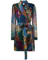 M Missoni スパンコール ラップドレス - ブラック