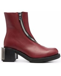 GmbH Logo Plaque Ankle Boots - Red