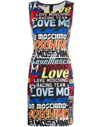 Love Moschino - All-over Logo Dress - Lyst