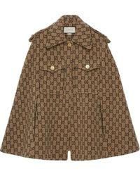 Gucci Monogram Cape - Brown