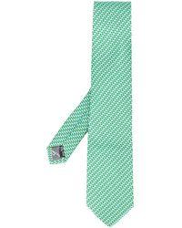 Ferragamo Cravate à imprimé graphique - Vert