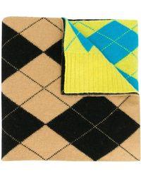 Pringle of Scotland Шарф Argyle Intarsia - Желтый
