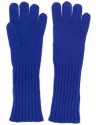 Cruciani Knitted Gloves - Blue
