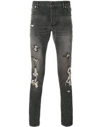 Balmain - Distressed Slim Fit Jeans - Lyst