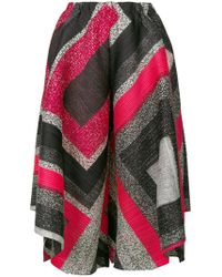 Pleats Please Issey Miyake - Printed Cropped Trousers - Lyst