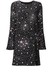 Boutique Moschino - Stars Print Longsleeved Dress - Lyst