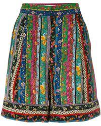 Philosophy Di Lorenzo Serafini - Floral Striped Shorts - Lyst