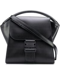 Zucca Broad Handle Tote Bag - Black