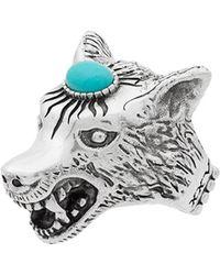 Gucci - Anillo Anger Forest con cabeza de lobo - Lyst