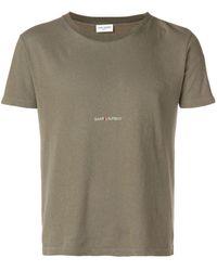 Saint Laurent - ロゴプリント Tシャツ - Lyst