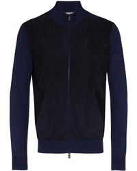 Canali Zip-up Jacket - Blue