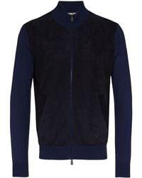 Canali スエード ジャケット - ブルー
