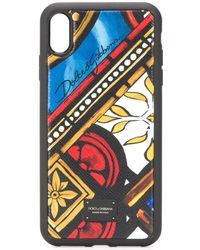 Dolce & Gabbana タイルプリント Iphone Xs Max ケース - ブルー