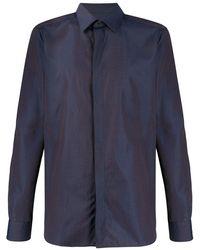 Ermenegildo Zegna Camisa con cierre oculto - Azul