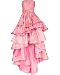 Oscar de la Renta - ストラップレス ドレス - Lyst