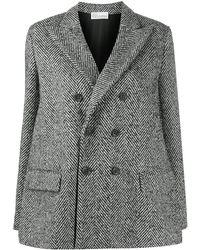 RED Valentino ヘリンボーン コート - ブラック