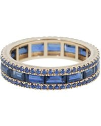 Katherine Jetter 18kt rose gold sapphire origami stacking band ring - Blau