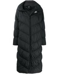Nike Длинный Пуховик С Логотипом - Черный
