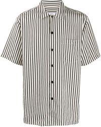 AMI Полосатая Рубашка С Короткими Рукавами - Черный