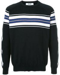 MSGM | X Diadora Stripe Detail Sweater | Lyst