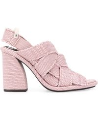 Premiata 110mm Woven Sandals - Pink