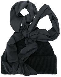 Molly Goddard Lila Ribbed-knit Beanie - Black