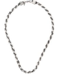 Emanuele Bicocchi Rope Chain Necklace - Металлик