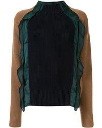 Sacai コントラストスリーブ セーター - マルチカラー