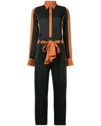 Just Cavalli - Long-sleeve Contrast Jumpsuit - Lyst