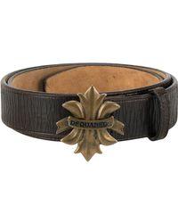 DSquared² - Fleur-de-lis Logo Buckle Belt - Lyst