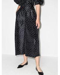 Carolina Herrera Culottes anchos con motivo de lunares - Negro