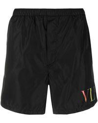 Valentino Vltn トランクス水着 - ブラック