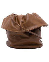 Little Liffner Foldover Top Bucket Bag - Brown