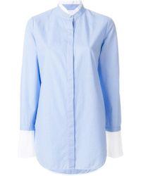 Rag & Bone Camisa Allie de raya diplomática - Azul