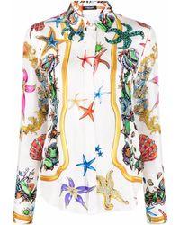 Versace Рубашка С Принтом Trésor De La Mer - Белый