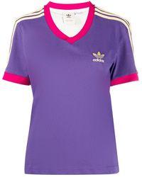 adidas Trefoil V-neck T-shirt - Viola