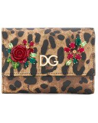 Dolce & Gabbana Leopard Print Wallet - Black