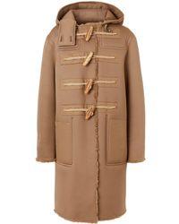 Burberry Reversible Hooded Duffle Coat - Natural
