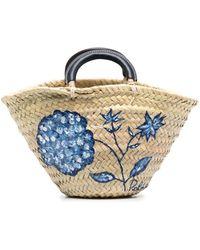 Ralph Lauren Collection Floral Print Basket Bag - Multicolour