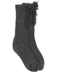 Maison Margiela Носки С Эффектом Потертости - Серый