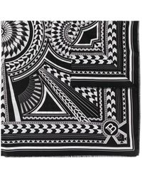 Balmain ジオメトリックプリント スカーフ - ブラック