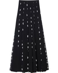 Carolina Herrera ポルカドット プリーツマキシスカート - ブラック