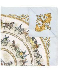Hermès Pañuelo con motivo de caballo pre-owned - Multicolor