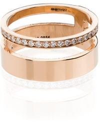 Repossi Berbere Module 18kt Rose Gold Diamond Ring - Metallic
