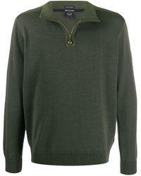 Paul & Shark パネル セーター - グリーン