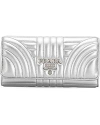 Prada - Quilted Continental Wallet - Lyst