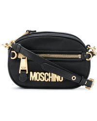 Moschino ロゴ ショルダーバッグ - ブラック